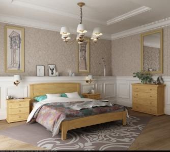 Кровать Бегония (Бук щит)
