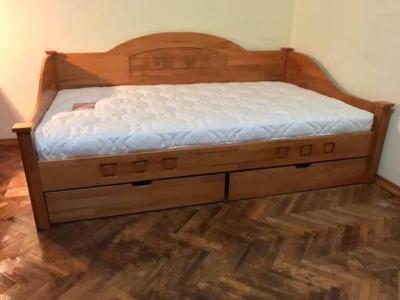 Ліжко Греція (Ясень/Дуб Масив)