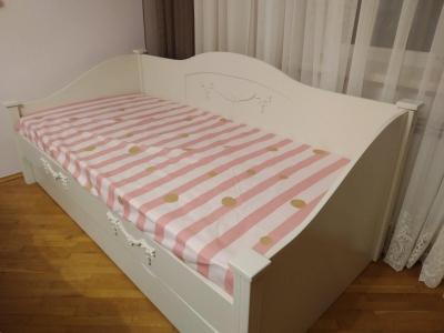 Ліжко Барбі (Ясень/Дуб Масив)