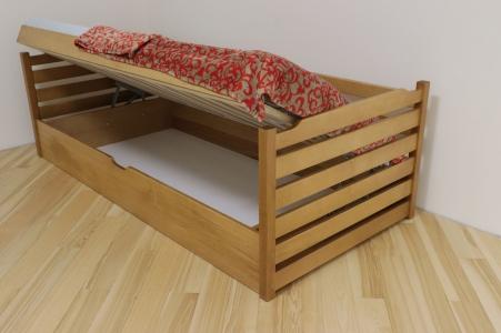 Ліжко Котигорошко з пійдомним механізмом (Бук Масив)