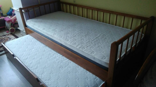 Ліжко Трансформер (Дуб масив)