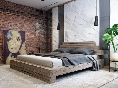 Ліжко Лофт (брус деревянний)